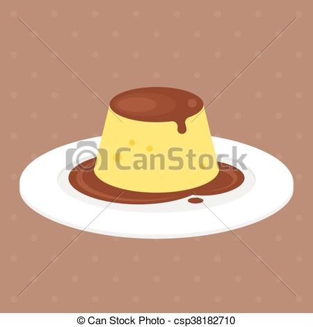 Caramel clipart custard With pudding  Vector in