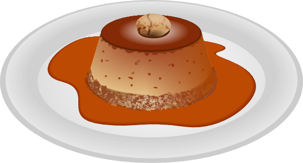 Caramel clipart custard Art this Art Caramel vector