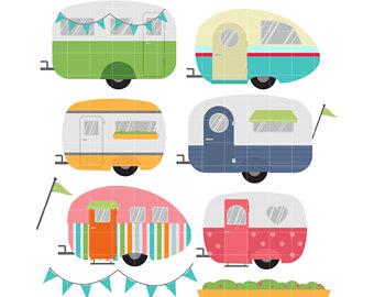 Caravan clipart Scrapbooking Etsy Card Crafts Cool