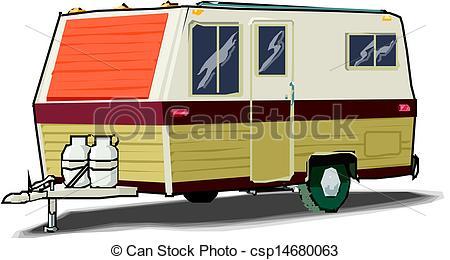 Caravan clipart Csp14680063 white Clip of Illustration