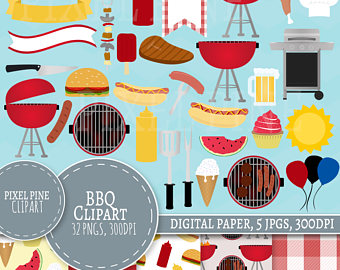 Barbecue Sauce clipart backyard bbq Summer Set Clip 32 BBQ