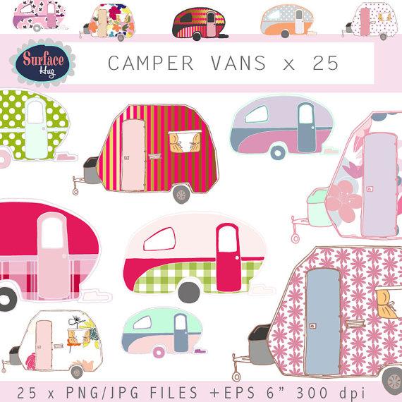 Camper clipart camping trip Art clip art campers CAMPER