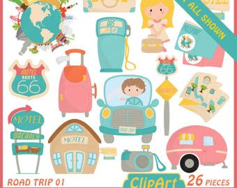 Vacation clipart road trip Travel clipart trip Drive Party