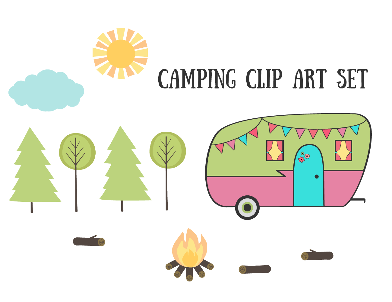 Camping clipart camper Images art campground images Collection