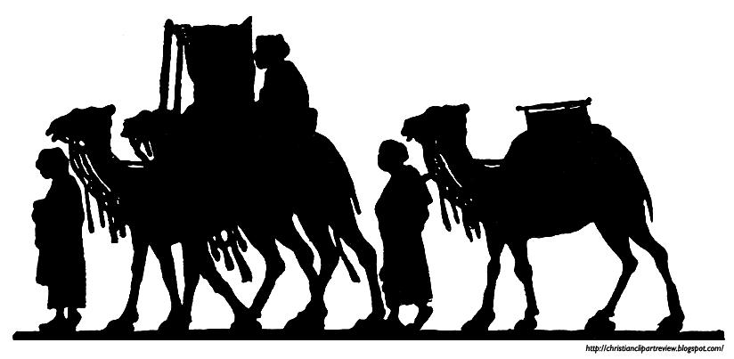 Camel Caravan clipart black and white Eastern An Silhouette Caravan Silhouette