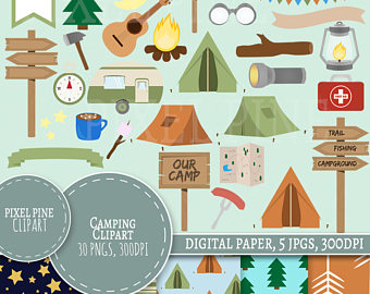 Camper clipart campfire 30 Commercial Camping Clipart Camping
