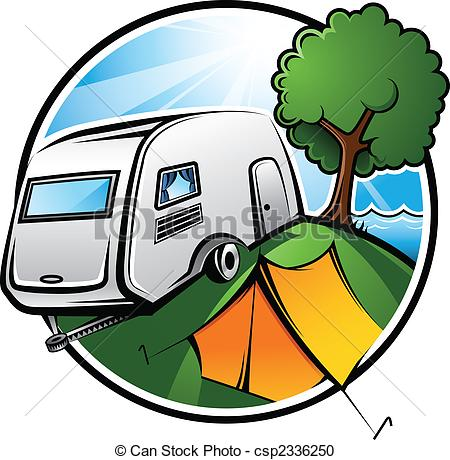 Camper clipart caravan Idyllic with  Clipart camping