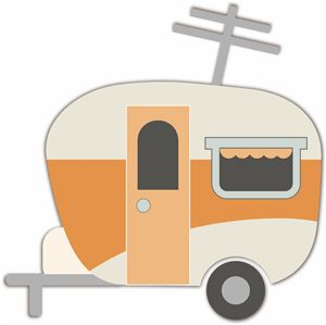 Camper clipart caravan Stamps clipart Cards images Camping