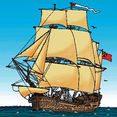 Caravel clipart [licensed 5fchronicle use / only]
