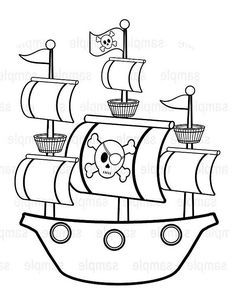 Caravel clipart black and white #10