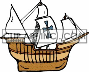 Caravel clipart cute #4