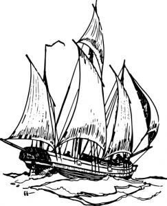 Caravel clipart small Sailing Ship Art Lugger Clip