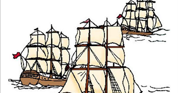 Caravel clipart fleet #2