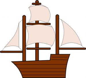 Caravel clipart navy ship Ship Download Sailing Art Simple