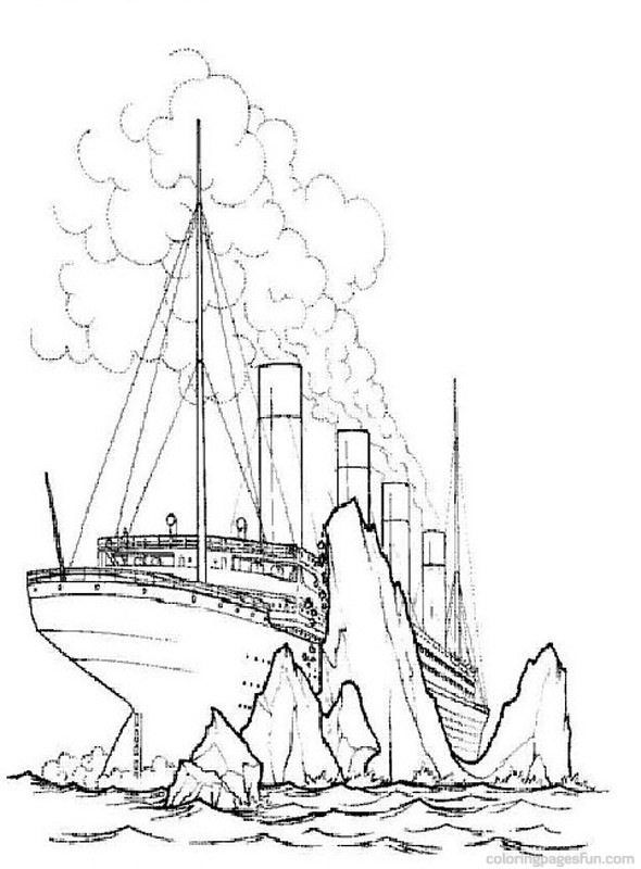 Drawn titanic cartoon 16 Titanic Coloring Pages Coloring
