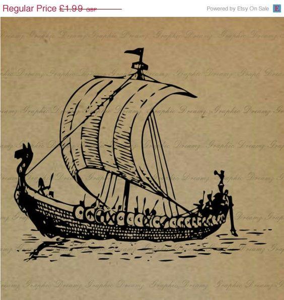 Caravel clipart viking boat #1