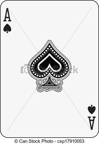 Cards clipart ace spades Spade csp17910053 of Clipart Vector