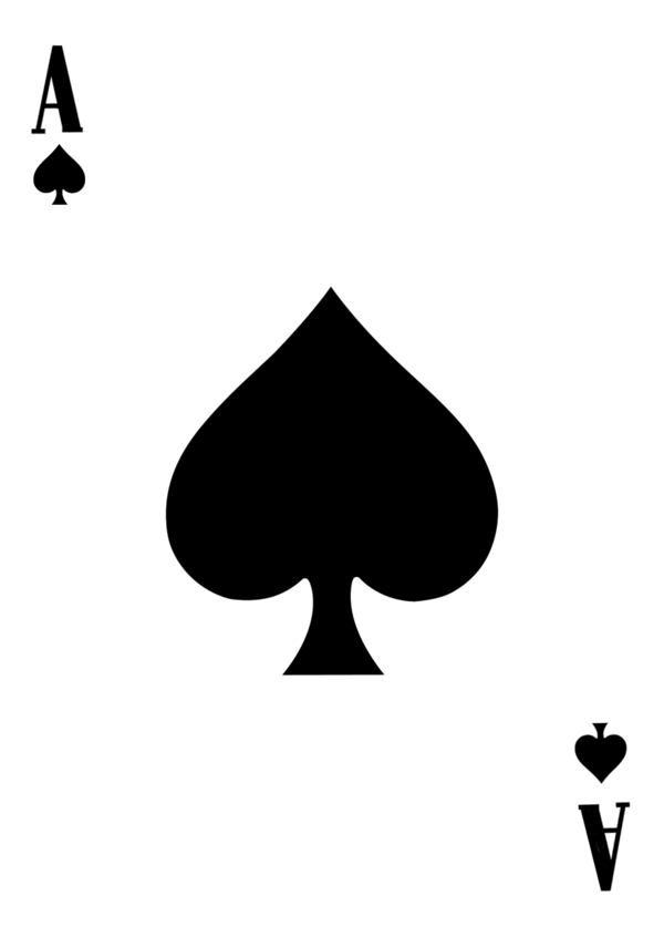 Cards clipart ace spades Clip template on of by