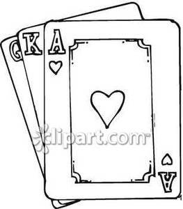 Cards clipart black and white Picture White and Black and