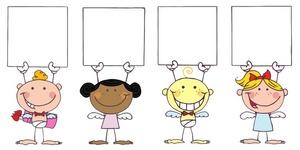 Card clipart blank card Holding Blank Blank  Cupids