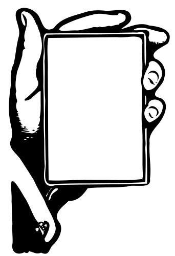 Card clipart blank card Hand Blank Clip Art Clipart