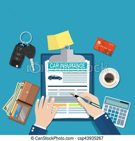 Card clipart car insurance  csp43935267 insurance Art form