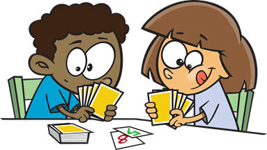 Cards clipart kid City to Center
