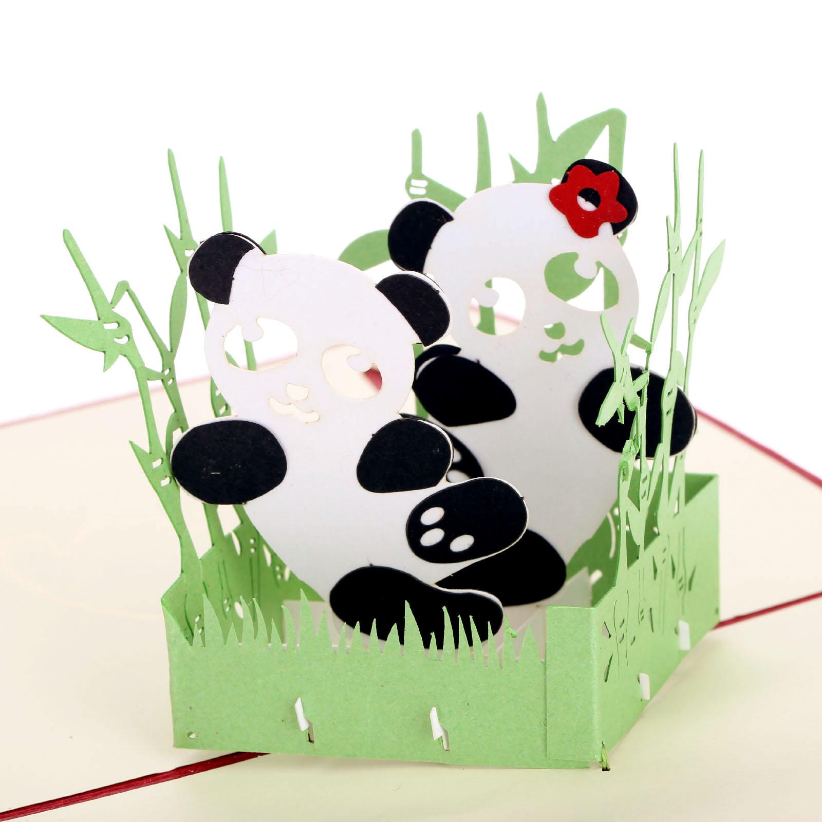 Cards clipart chinese panda Panda panda Pop  Up