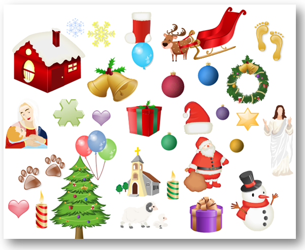 Card clipart christmas card Download Vector Elements Free Art