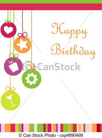Cards clipart happy birthday Birthday card Vectors Vector happy