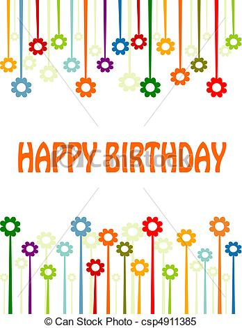 Card clipart happy birthday Happy  Vector Clipart lettered