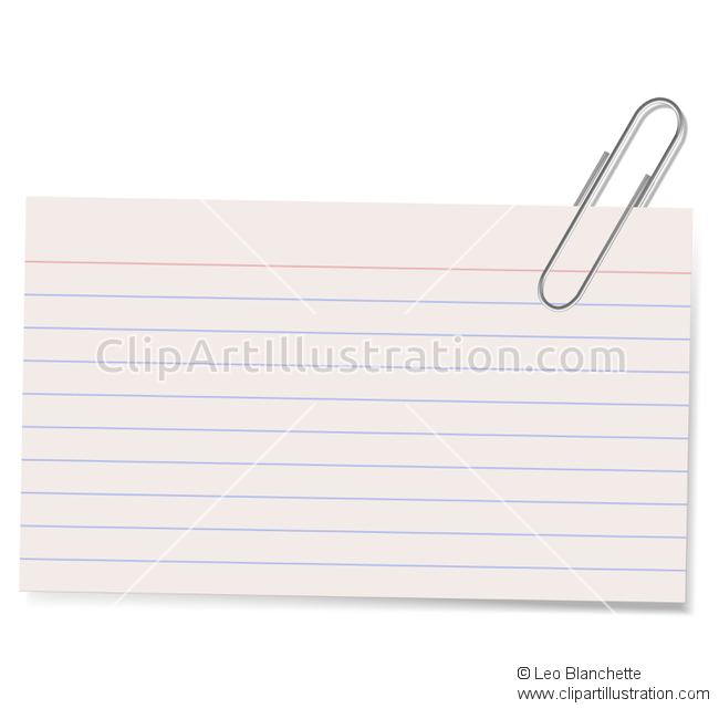 Card clipart index card Vector Card and Card with