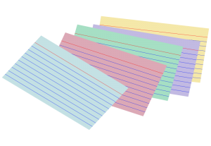 Card clipart index card Of Card Colored Index Index