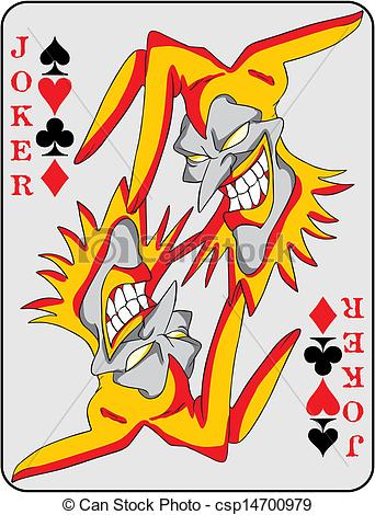 Cards clipart joker Joker Vector csp14700979 csp14700979 Illustration
