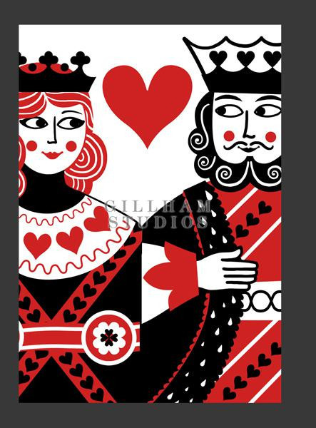Cards clipart king and queen Card King playing card of