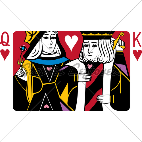 Cards clipart king and queen GL Of Hearts And Stock