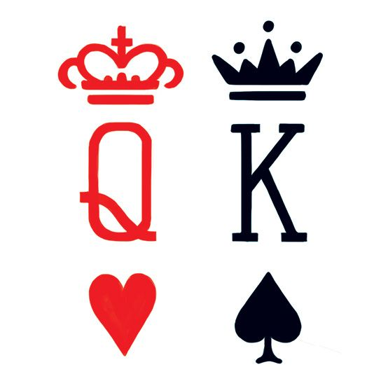 Cards clipart king and queen Queen Temporary Tattoos Card Card