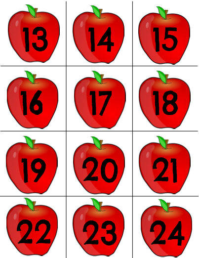 Card clipart number card Number Cards Apple Number Cards