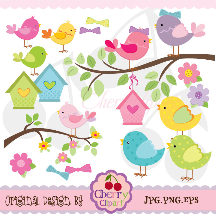 Cards clipart paper Making and Use Birds digital