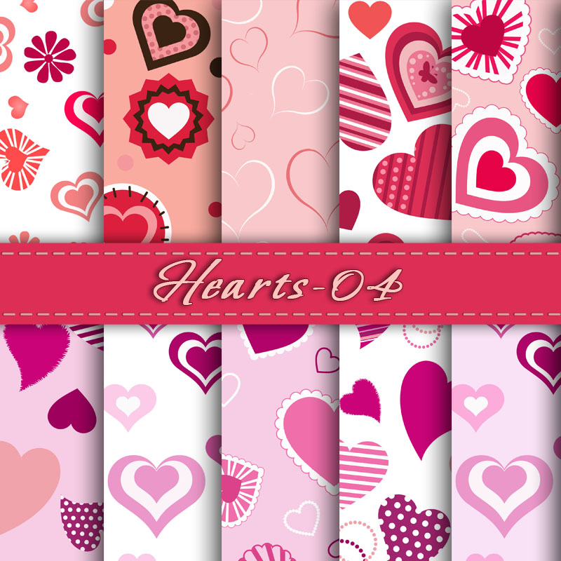 Cards clipart paper Card Hearts Scrapbook Digital Valentine