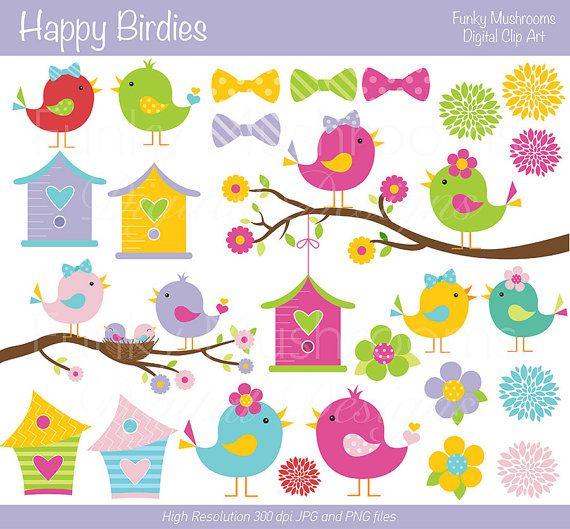 Cards clipart paper Clip Paper Clipart Birdies on