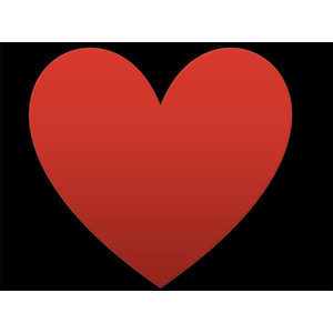 Card clipart red heart #6