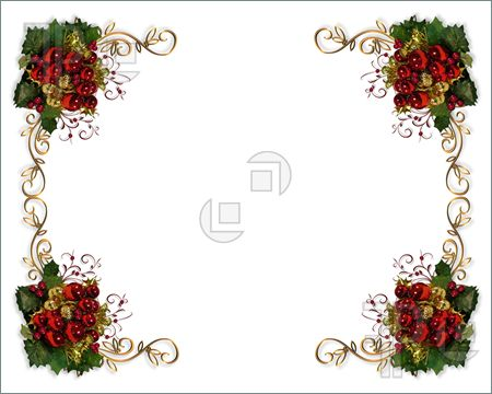 Cards clipart christmas letter Downloadable card borders4 Page Page