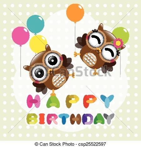 Cards clipart happy birthday EPS Vectors cute cute