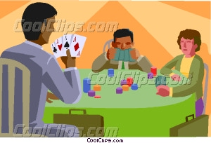 Cards clipart person Cards playing collection chess playing