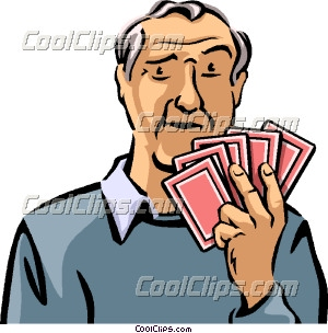 Cards clipart person Cards Playing Clip Art