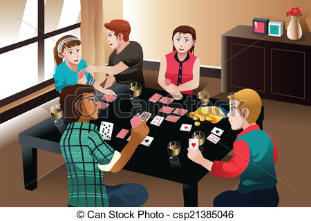 Cards clipart person Of  cards People cards