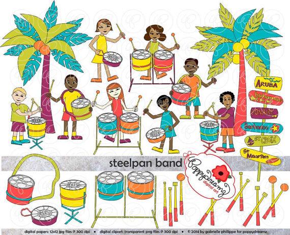 Caribbean clipart parade Caribbean Band: Teacher Digital Islands