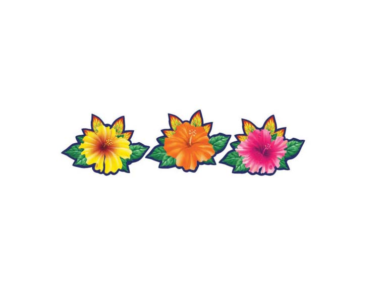 Caribbean clipart flower decoration Decorations flowers  Hawaiian Caribbean