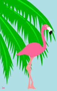 Palm Tree clipart beach theme Beach Vacation flamingo and Borders